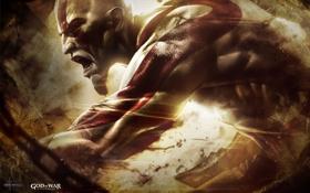 Картинка цепи, Крик, Kratos, Кратос, PS3, Бог войны: вознесение, Sony Computer Entertainment
