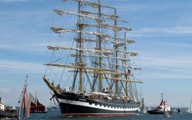 Картинка фото, корабли, Крузенштерн, парусные, Kruzenstern