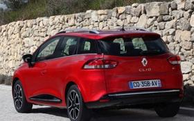 Картинка авто, красный, Renault, задок, ренаулт, Clio Estate