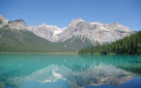 Картинка лес, пейзаж, горы, природа, озеро, обои, wallpaper