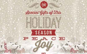 Обои Special Gifts, Птицы, Vector, Merry Christmas