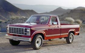 Картинка ретро, ford, автомобили, f-250