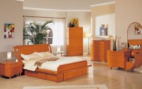 Обои дизайн, дом, стиль, вилла, интерьер, спальня