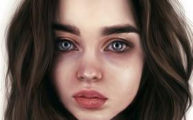 Обои девушка, лицо, модель, арт, красавица, Ali Michael