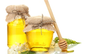 Картинка мед, баночки, ложка, банки, сладкое, акация