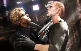 Картинка пистолет, мужчина, наемник, фан арт, Albert Wesker, Resident evil, jake muller