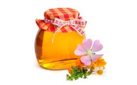 Обои цветы, сладко, honey, мёд, баночка