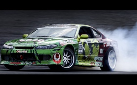 Обои Silvia, Nissan, drift, burnout