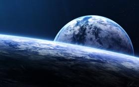 Картинка арт, звёзды, космос, планеты