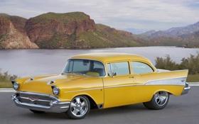 Обои пейзаж, желтый, Chevrolet, Project X