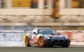 Картинка скорость, дрифт, Pontiac, red bull, drifting