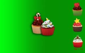 Обои еда, сладости, зелёный, кексы, пироженое