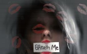 Картинка стекло, девушка, breath me