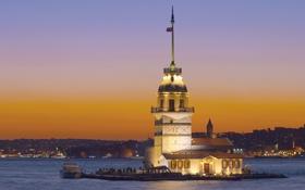 Обои Istanbul, Turkey, İstanbul, Türkiye, Kız Kulesi