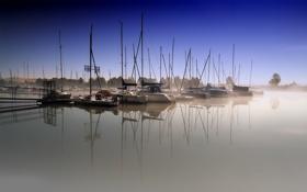 Обои гавань, вода, катера, лодки, яхты, обои, пристань