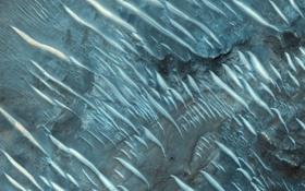 Картинка поверхность, полосы, планета, текстура, Марс