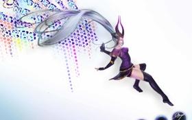 Обои граффити, арт, сферы, League of Legends, Syndra