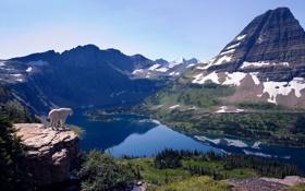 Картинка пейзаж, Природа, горы, высота, вид, озеро