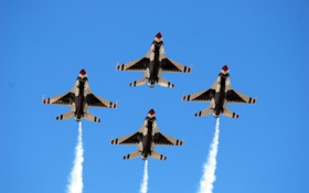 Обои небо, F-16, самолёты