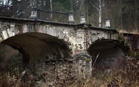 Картинка осень, мост, архитектура