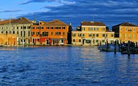 Обои венеция, италия, остров мурано, канал