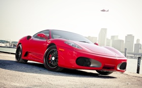 Картинка red, ferrari, florida, F-430, miami