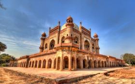Обои город, мечеть, индия, строение