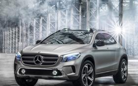 Обои авто, Concept, свет, фары, Mercedes-Benz, решетка, передок