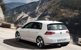 Обои car, Volkswagen, road, wallpapers, Golf, GTI, 5-door