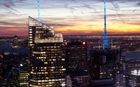 Картинка город, нью-йорк, сша, манхеттен, банк оф америка
