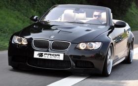 Картинка чёрный, бмв, BMW, кабриолет, black, E93, Cabrio