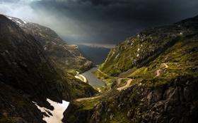 Картинка дорога, небо, пейзаж, горы