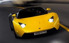 Обои Дорога, Машина, Движение, Машины, Car, Жёлтый, Автомобиль