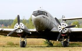 Обои самолет, военно-транспортный, советский, Lisunov Li-2