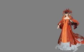 Обои арт, костюм, девушка, фентези, игра