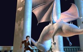Обои дракон, мультфильм, принц, приключение, 7-ой гном, Der 7bte Zwerg