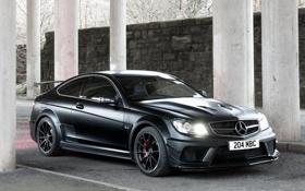 Обои Mercedes-Benz, Стена, Обои, Колонны, AMG, Black, Germany