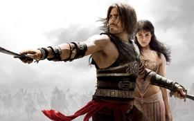 Обои меч, принц, принц персии, Prince of Persia, принцеса, The, скилеты