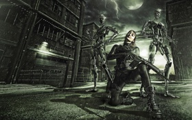 Картинка android, terminator, robots, cyborgs, Storm warriors