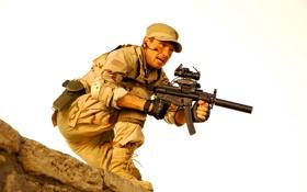 Картинка пистолет, оружие, кадр, солдат, автомат, перчатки, форма