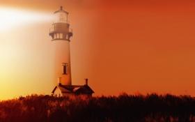 Обои пейзаж, текстура, маяк