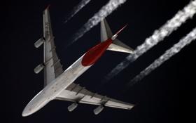 Картинка небо, самолёт, боинг, авиалайнер