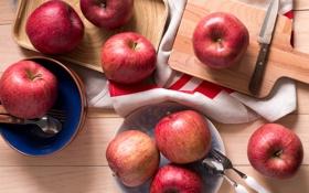 Обои яблоки, плоды, фрукты