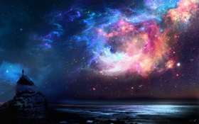 Обои цвета, космос, пространство, человек, яркость, явление