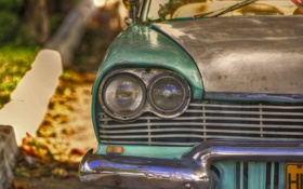 Картинка улица, фары, автомобиль, Куба, солнечный свет, Гавана