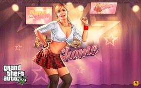 Обои девушка, трейси, Grand Theft Auto V, блондинка