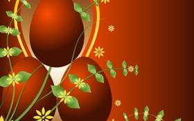 Обои оранжевый, фон, яйца