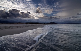 Картинка море, небо, пейзаж, ночь