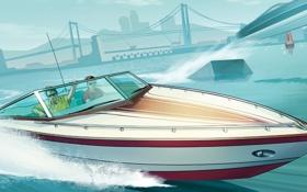 Обои Los Santos, лодка, Grand Theft Auto V, GTA Online
