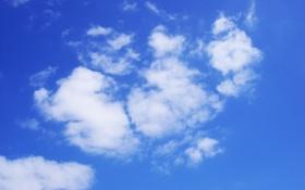 Картинка небо, облака, голубое
